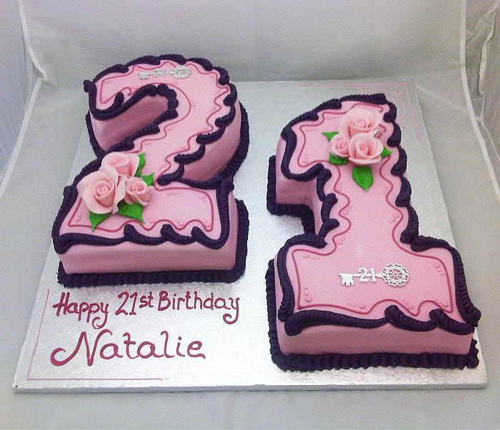 Birthday Cake Designs Numbers