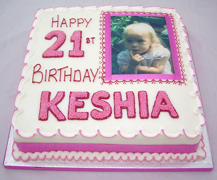 Printed picture birthday and anniversary cakes Ashford ...